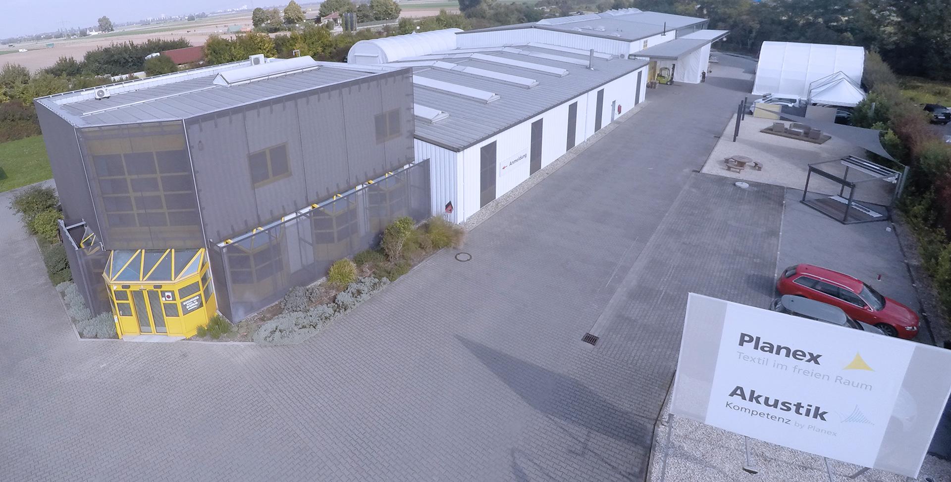 Das Firmengelände der Planex Technik in Textil GmbH in Ludwigshafen