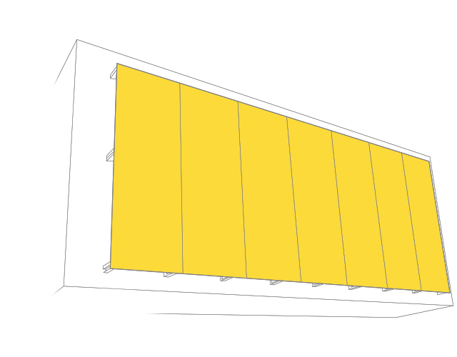 Hier sehen Sie eine Illustration einer Textilfassade von Planex Technik in Textil GmbH.