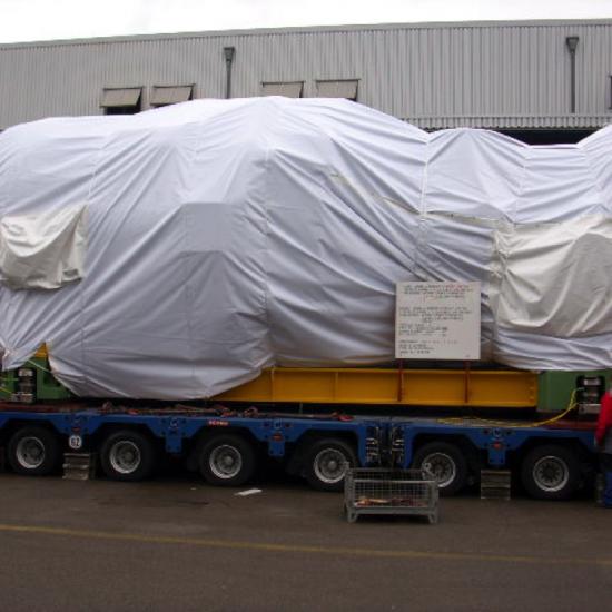 Transportschutzplane (Schweizerdeutsch: Blachen) von Planex Technik in Textil GmbH