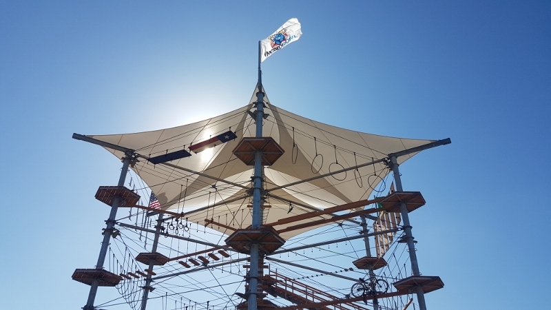 Sonnensegel von Planex verbaut im Kristallturm