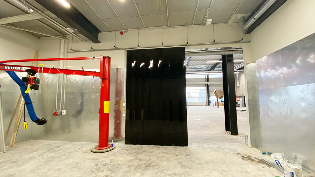 Streifenvorhang von Planex für Industriehallen