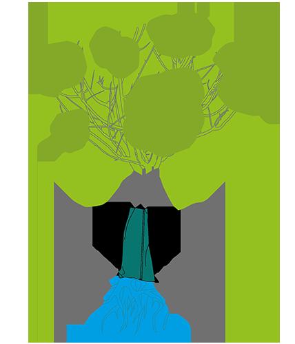 Illustration eines Premium Bewässerungssacks und Baumsacks von Planex in höchster Qualität made in Germany.