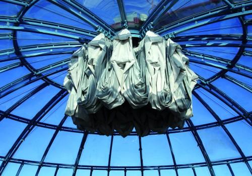 Faltmembrane für Glaskuppel einer Hotelanlage