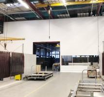 Hallenabtrennung von Planex Technik in Textil GmbH