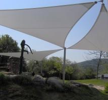 Sonnensegel nach Maß von Planex Technik in Textil GmbH für den Spielplatz