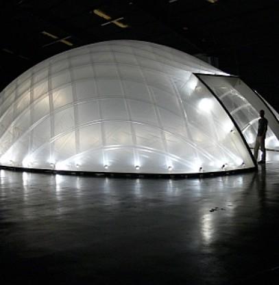 Leichtbau-Pavillon für Hollywood-Filmkulisse