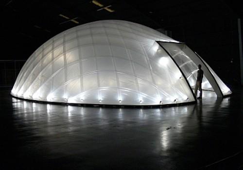 Futuristische Leichtbau-Filmkulisse für Hollywood