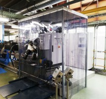 Streifenvorhang für den Schutz von Maschinen oder Produkten in der Produktion und im Lager in der Industrie und im Gewerbe