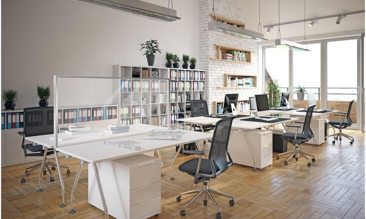 Eine transparente Schutzwand zur Erweiterung der Schutzmaßnahmen gegen Virusinfektionen für Kunden und Mitarbeiter in Büros und Unternehmen.