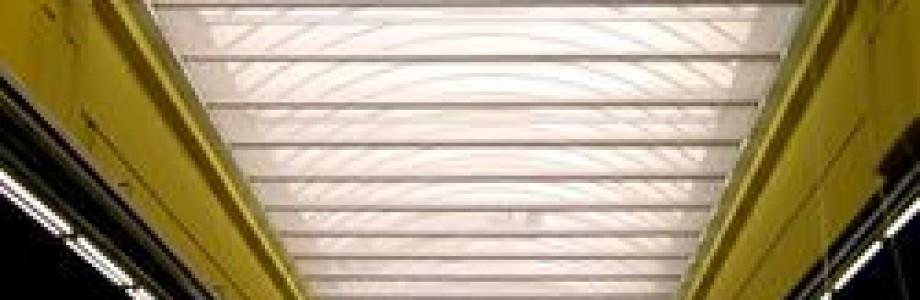 Verschiebbares Sonnensegel für Buswerkstatt gefertigt